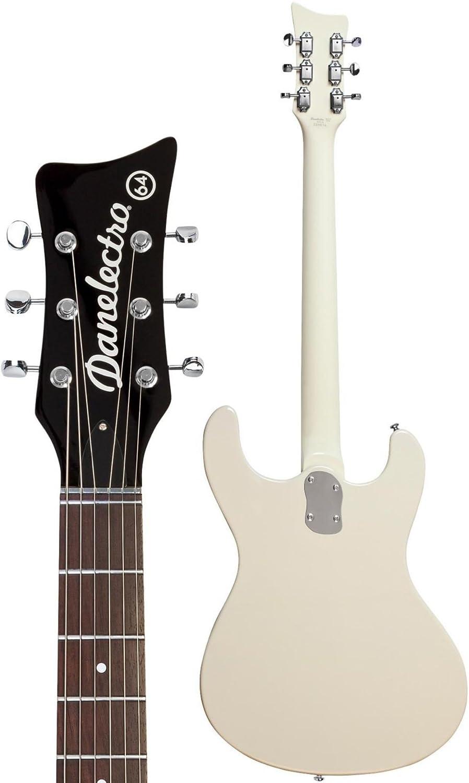 Danelectro Cool Cat 64 BP The Black Pearl guitarra eléctrica Negro: Amazon.es: Instrumentos musicales