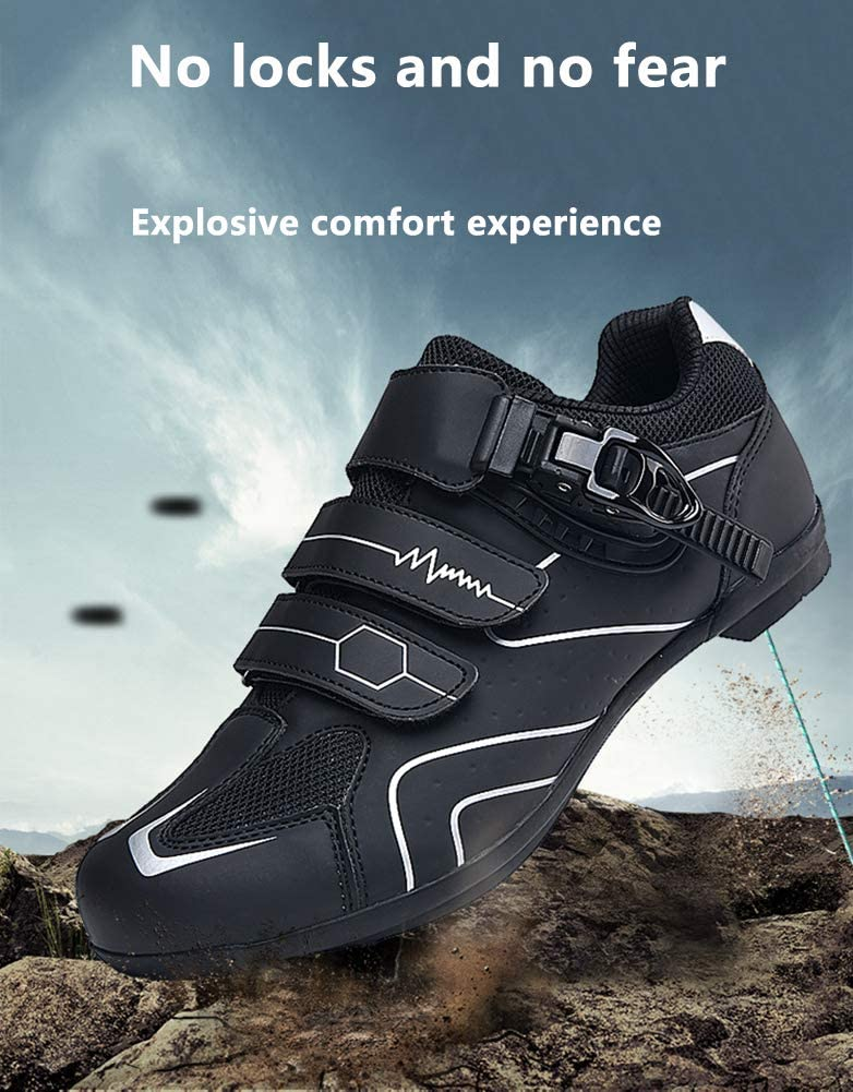 Cycle Shoes Mens Pro Road Bike Shoes Spin Cycle Indoor Riding Road Cycling