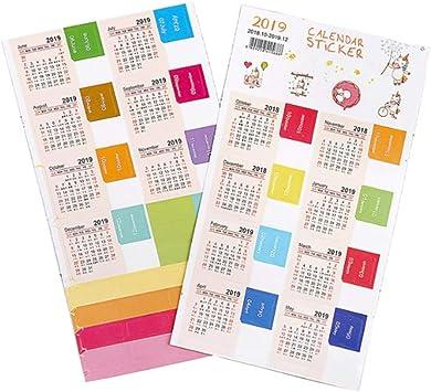 2 unids/Pack Calendario 2018-2019 Mini Papelería Pegatinas ...