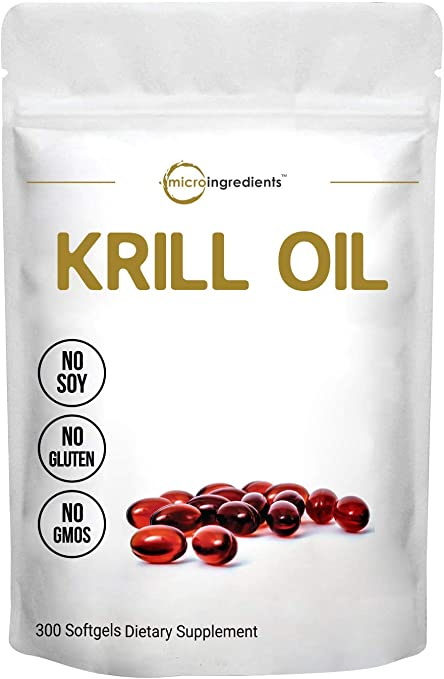 Antarctic Krill Oil Supplement, 1000mg Per Serving (Double Strength), 300 Soft-Gels, Rich in Omega-3s EPA, DHA & Astaxanthin, Supports Immune System & Brain Health, Premium Krill Oil Capsules (Liquid)