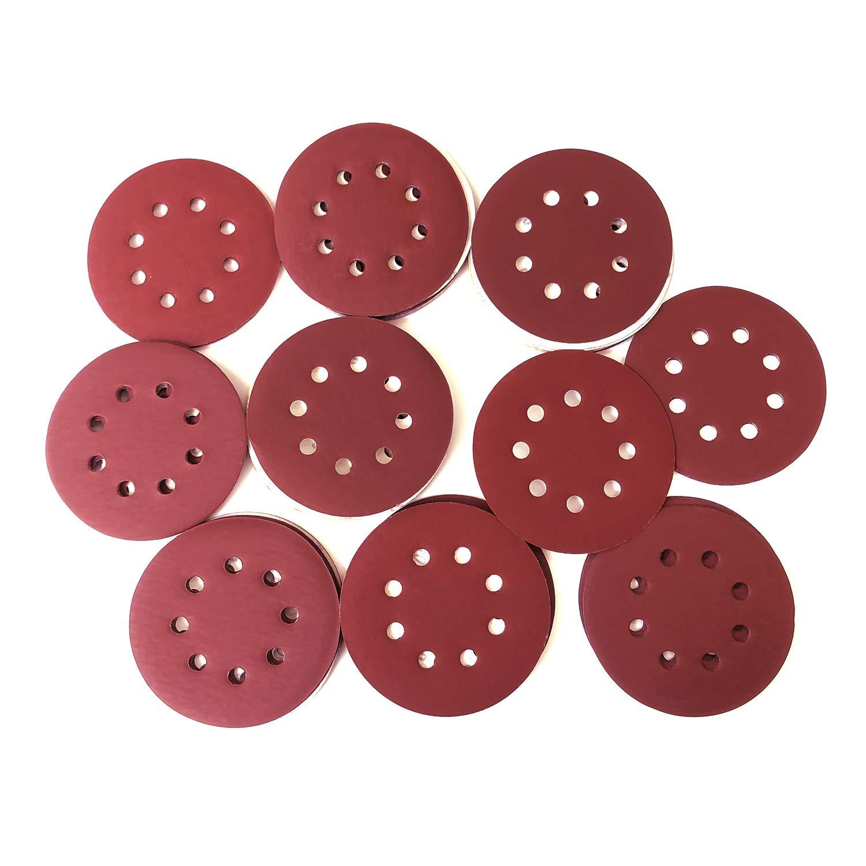 PPX 100 Pieces 8 Holes Sanding Discs, 5 Inch Hook and Loop 1000/1200/ 1500/2000/ 3000 Grit Sandpaper Assortment for Random Orbital Sander