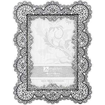 Amazon.com: Malden International Designs Sabella Lace Metal Picture ...