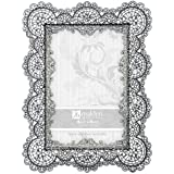 malden international designs sabella lace metal picture frame 4x6