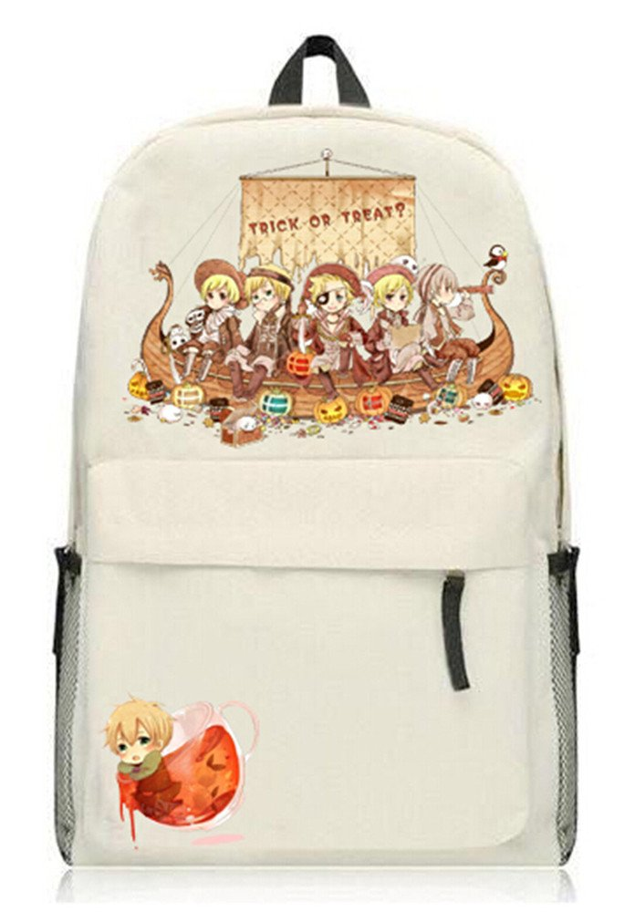 Siawasey Anime Axis PowersヘタリアコスプレブックバッグDaypack Collegeバックパックスクールバッグ   B072N5D34L
