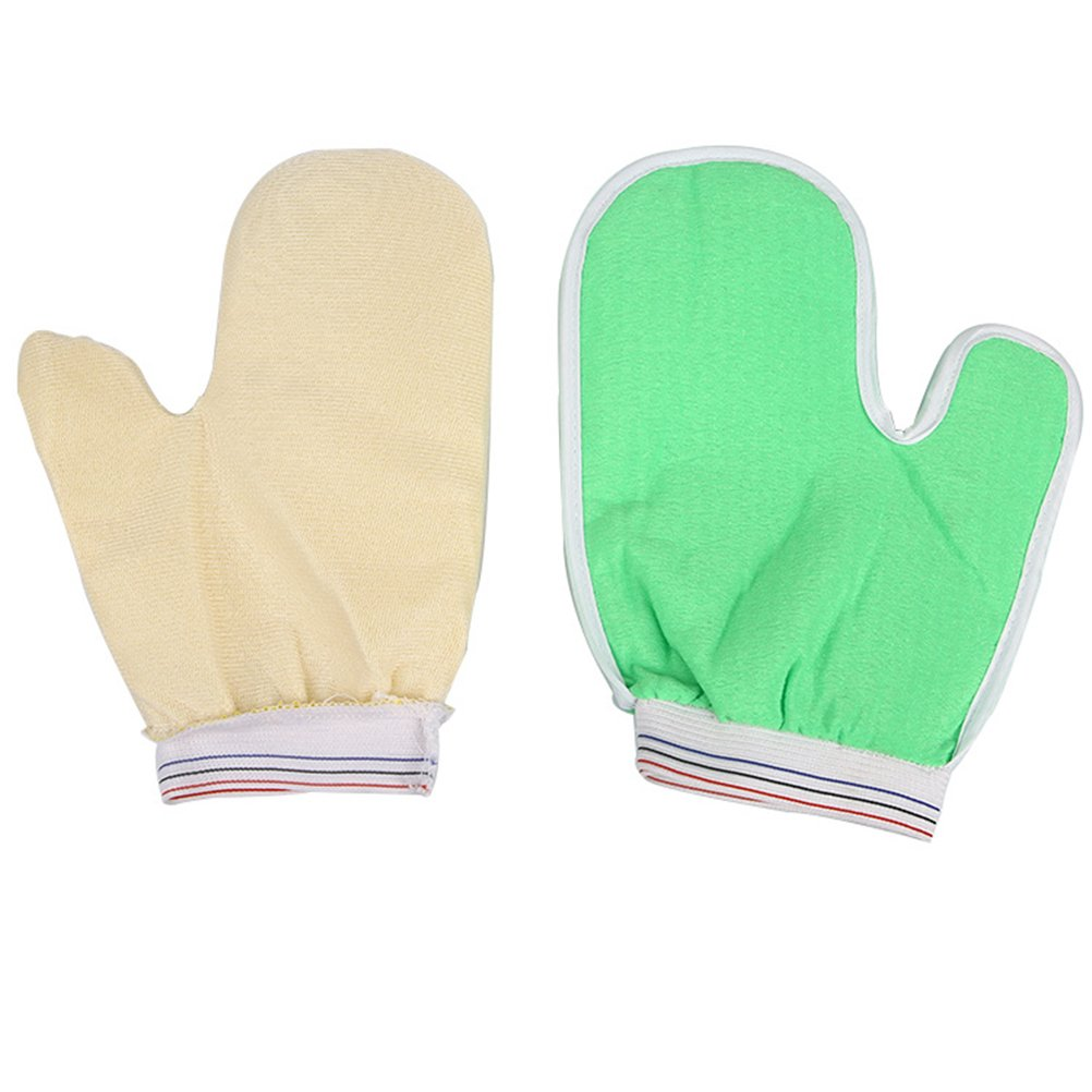 Frcolor Bath Exfoliating Glove, Full Body Scrub - Shower or Bath Spa Exfoliation Accessories For Men and Women - Scrubs Away Dead Cells For Soft Skin and Improves Blood Circulation (Random Color)