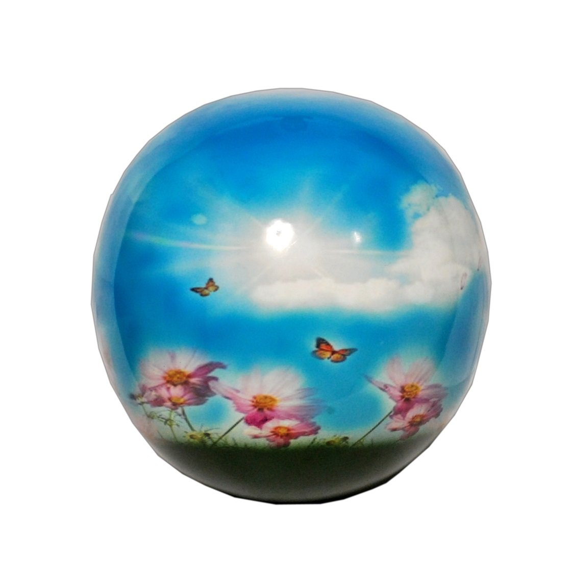Divinityurns Heavenly Butterfly Sphere of Life Cremation Urn for Human Ashes by Memorials4u - Adult Funeral Urn Handcrafted and Engraved - Affordable Urn for Ashes - Large Urn Deal