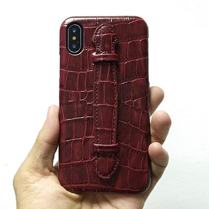 Amazon.com: 1 funda de piel para correa de mano para iPhone ...