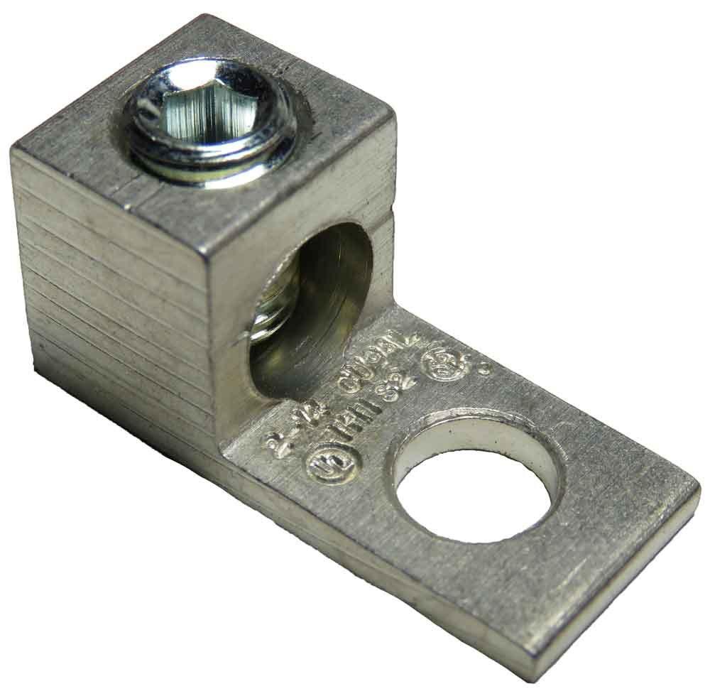 S2-HEX Single Wire Mechanical Lug (2-14 AWG) Box of 100pcs
