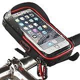 Wheelup Waterproof Bike Bicycle Phone Mount Holder with WaterResistant Cycling Frame Bag