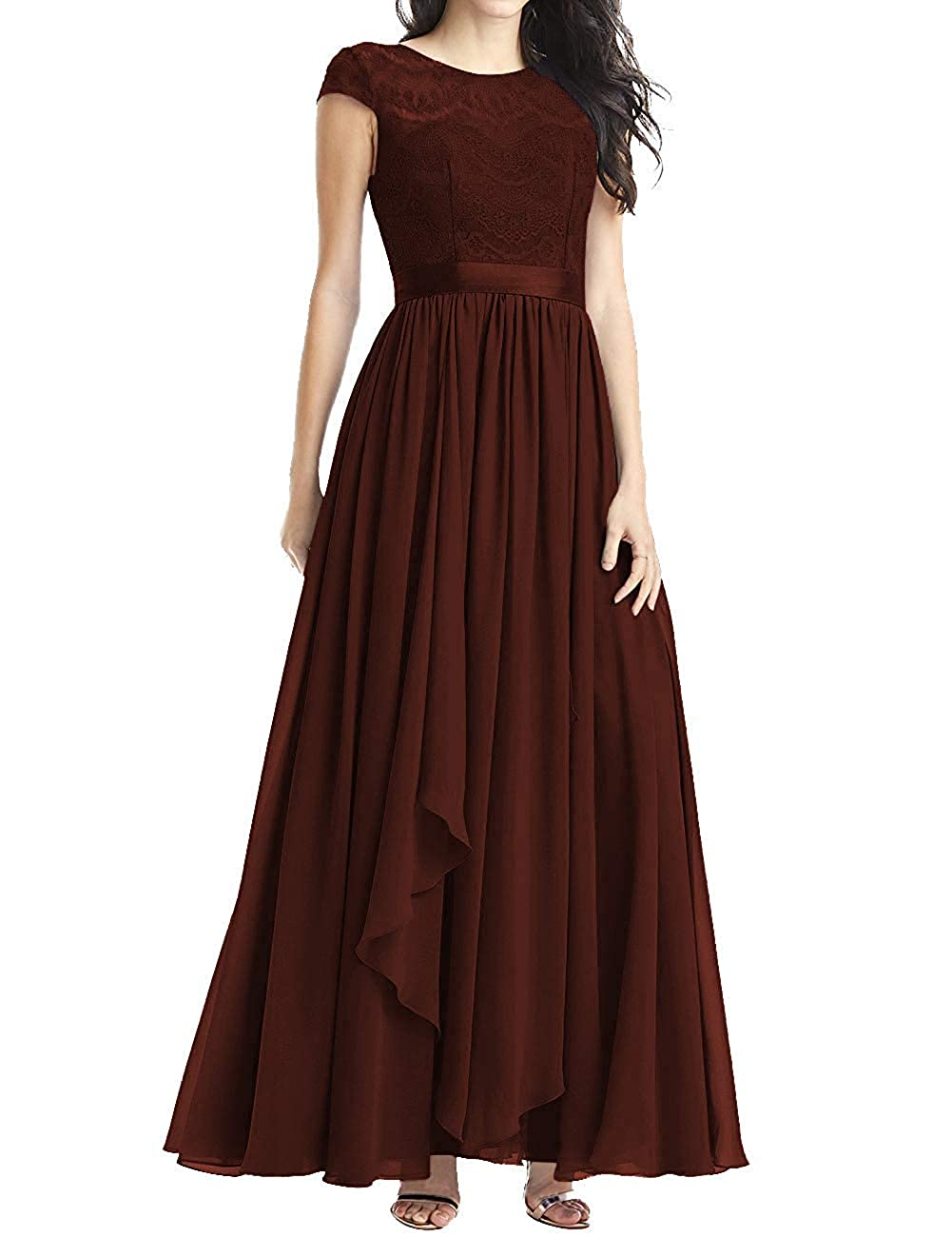 Maroon Mother of The Bride Dresses Plus Size Evening Dresses with Sleeves Formal Gowns for Women Evening Dress