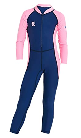 d02cd520af1 Baby Toddler Girls Full Body Wetsuit Long Sleeve UV Protection Rash Guard  Thermal Siwmsuit for Swimming