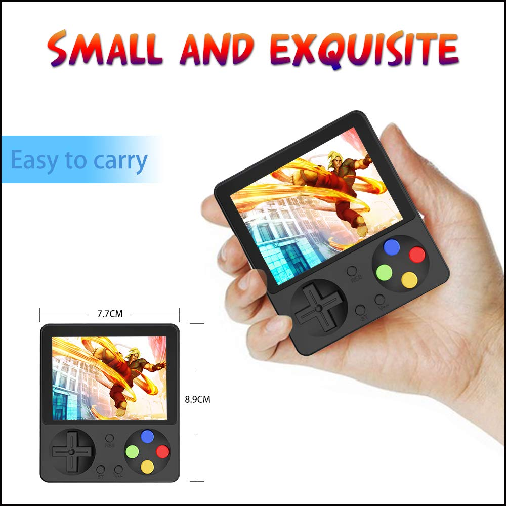 Ruihoxin Handheld Game Console, 333 Classic Games 3.0 inch HD LCD Screen Portable Video Game, Retro Game Console can be Played on TV, Good Gift for Children and Adults, Gifts. (Black) by Ruihoxin (Image #4)