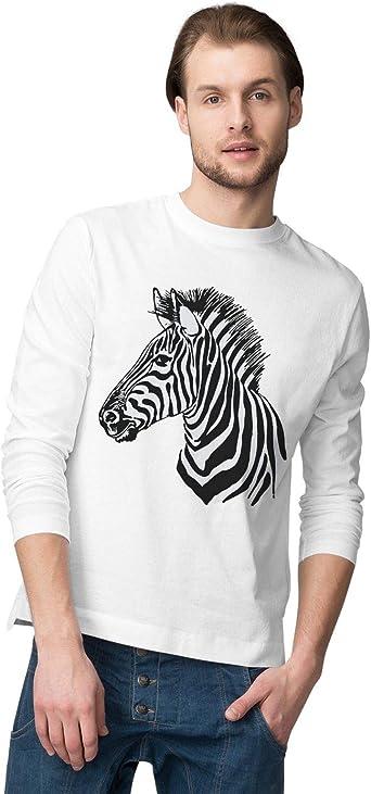 BLAK TEE Hombre Animal Kingdom Zebra Portrait Camisa De Manga Larga: Amazon.es: Ropa y accesorios