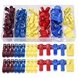 ISALI 96pcs Insulated 0.5-6.0mm² Quick Splice Wire Connector Crimp Terminals 22-10AWG Kit