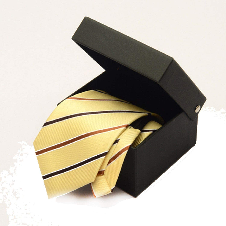 Zipper Tie 8cm Lazy Necktie MenS Commercial formal Suit Wedding Neckties Yellow Striped,Yellow