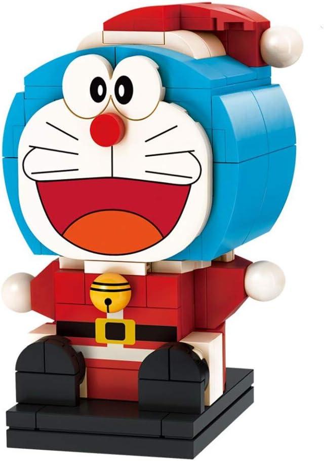 Japanese Cartoon Character Decorative and Collectible Toy Doraemon Santa Claus Figure Set Bricks Building Kit