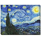 ArtKisser Starry Night by Vincent Van Gogh Canvas Wall Art Modern Home Decor Bedroom and Living Room Decorations Oil Painting Reproduction Stretched and Wrapped Giclee Prints Ready to Hang 16