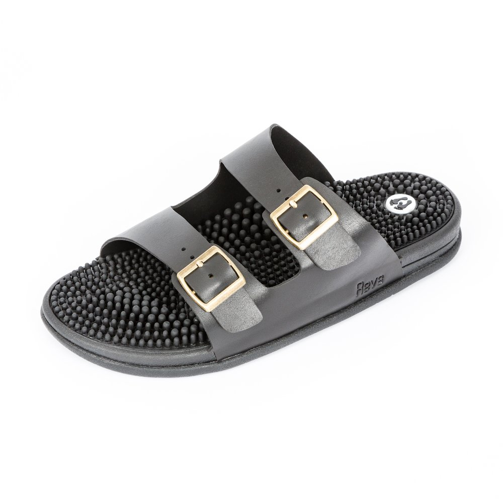 Revs Savings Seva Sandals, Reflexology Sandals for Men & Women. Shock Absorbing, Cushion Comfort & Arch Support B01N48SPKH 31cm / Women US 13.5-14.5 / Men US 14.5-13.5|Black