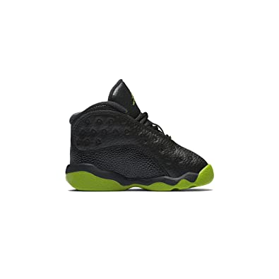 495b441dfe48 NIKE Jordan 13 Retro BT Kids Black Green 414581-042 (Size  4C