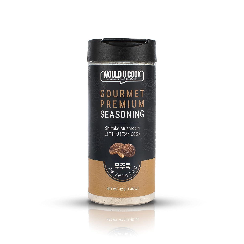 WOULD U COOK GOURMET PREMUIM SEASONING Shiitake Mushroom Powder (42g/1.48oz), South Korea Grown