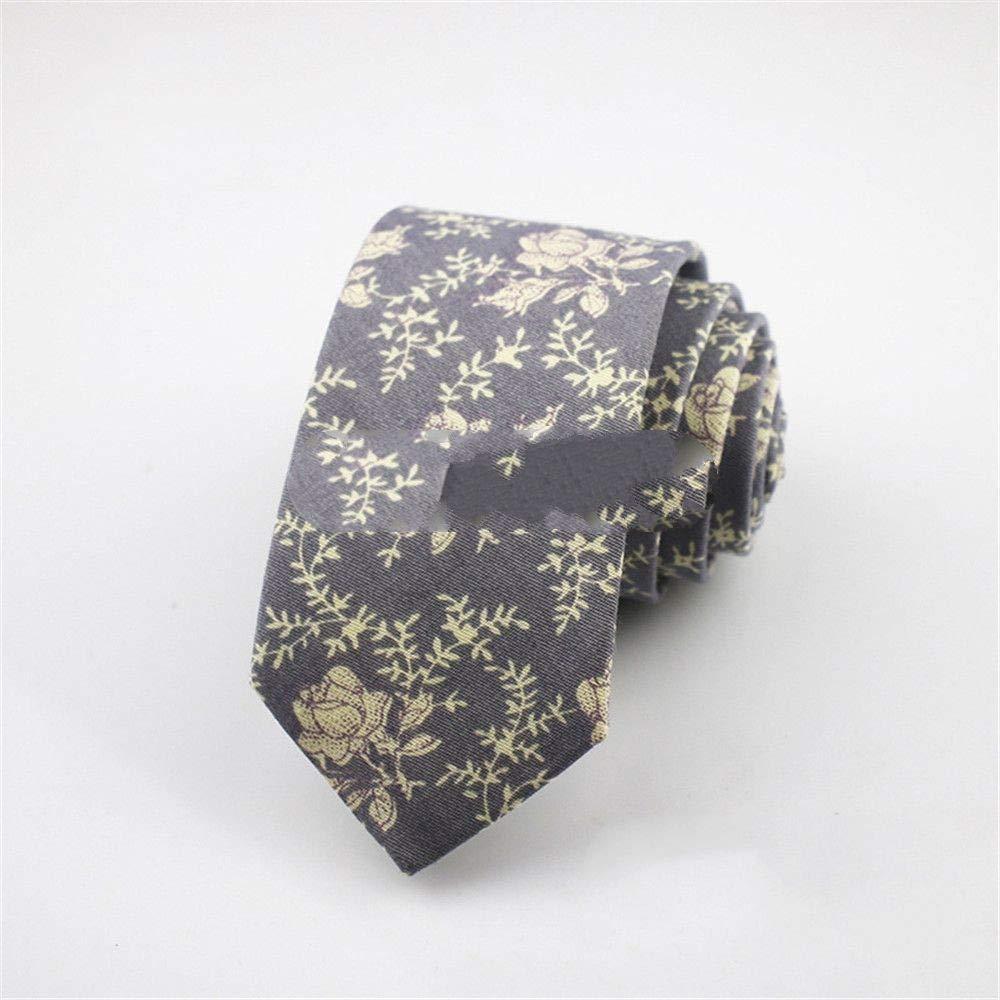 Zjuki Corbata Algodón Corbata para Hombre de Negocios Artificial ...