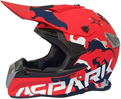 Accesorios de motos Rojo Azul Gris profesional del casco de ...