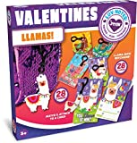 Toys : JOYIN 28 Pack Valentines Day Gifts Cards for Kids with Llama Key Chain for Valentine's Classroom Exchange Cards and Valentines Party Favor