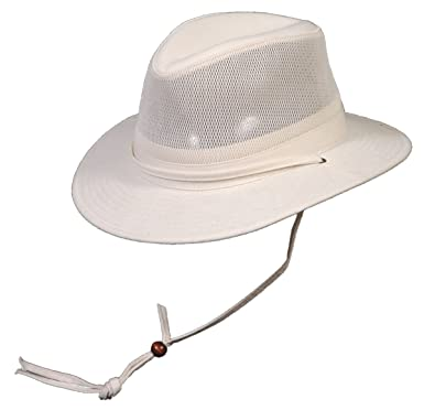 Medium Oatmeal Cotton Safari Style Hat with Cotton Chin Cord at ... d43223bec34