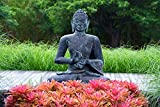 Buddha Picture, Garden Meditation Statue Print, Buddhist Wall Art, Yoga Decor