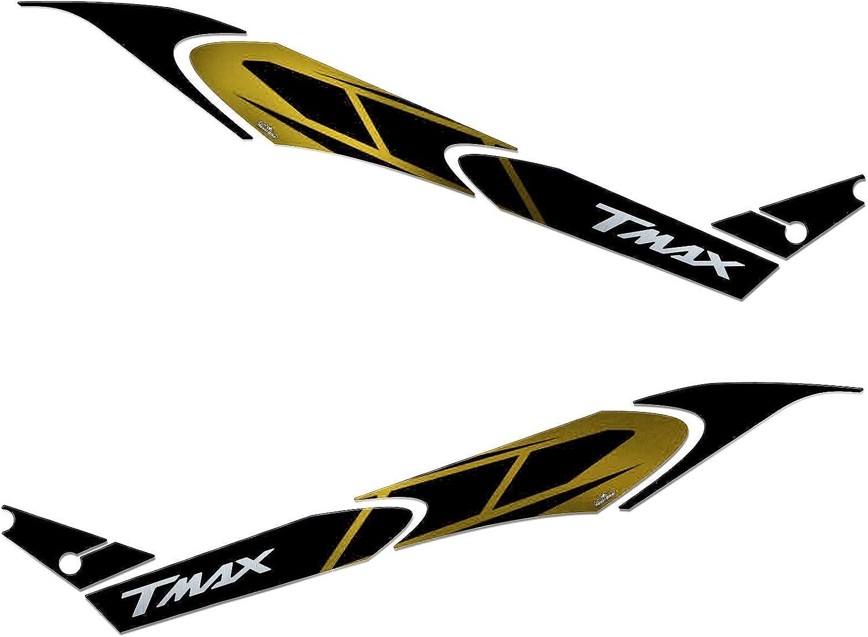 Adhesivos 3D Boomerang Lateral Compatible Con YAMAHA Tmax 560 2020 Oro