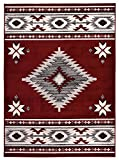 RugStylesOnline Comfy Collection Southwestern Design Area Rug Native American Traditional Rug 2 Different Color Options (Red, 7'10 x 9'10) Review