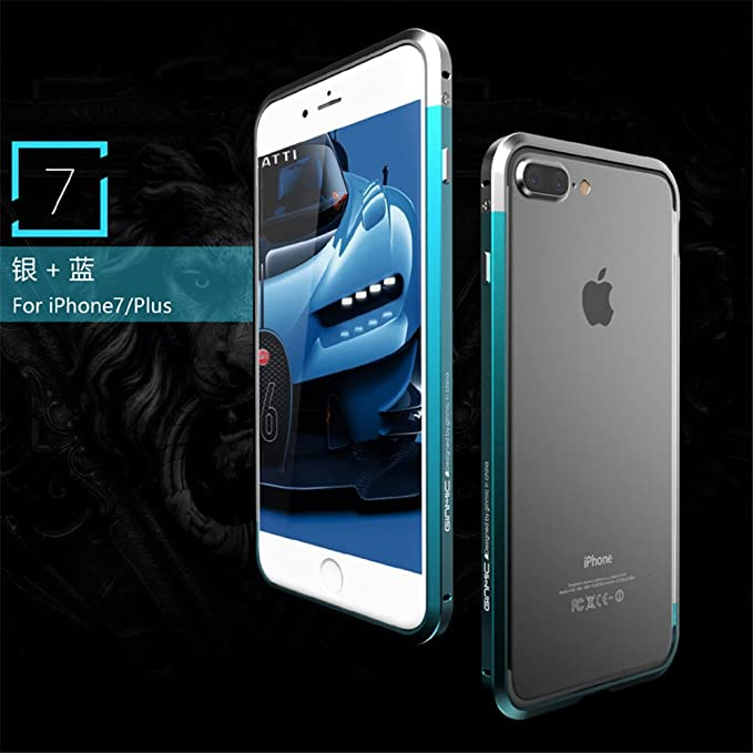uk availability b1833 4ee7c iphone 7 plus Case, Lwang Luxury two - color metal bumper ultra - thin  aluminum alloy metal frame Earthquake protective Case Cover for iphone 7 ...