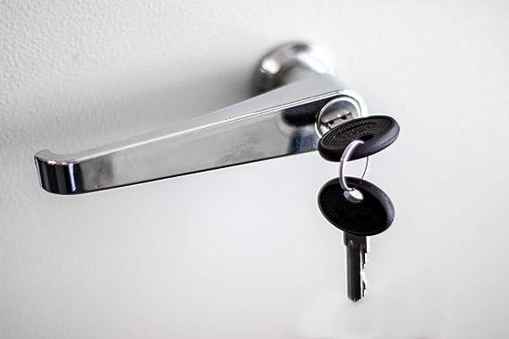 L HANDLE LATCH//LOCK ZAMAK FOR CABINET BOX PANELS # 111.1.1.01.42