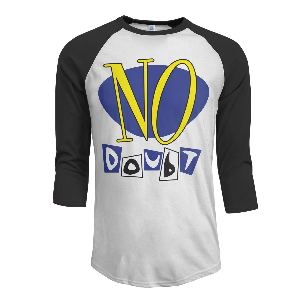 JeremiahR No Doubt Mens 3//4 Sleeve Raglan Baseball Tshirts Black