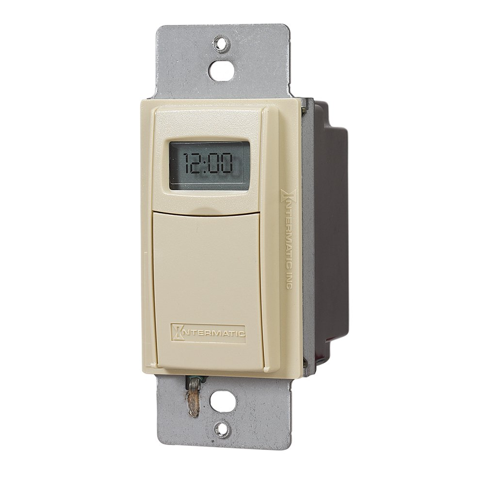 Intermatic Ei600lac Time Switch Light Almond Wall Timer Switches