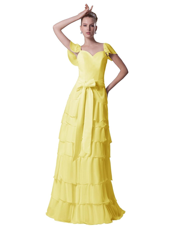 Dressystar Damen Abendkleider mehrschichtig Rock festlich Ballkleider Sommerkleider mit Schleife