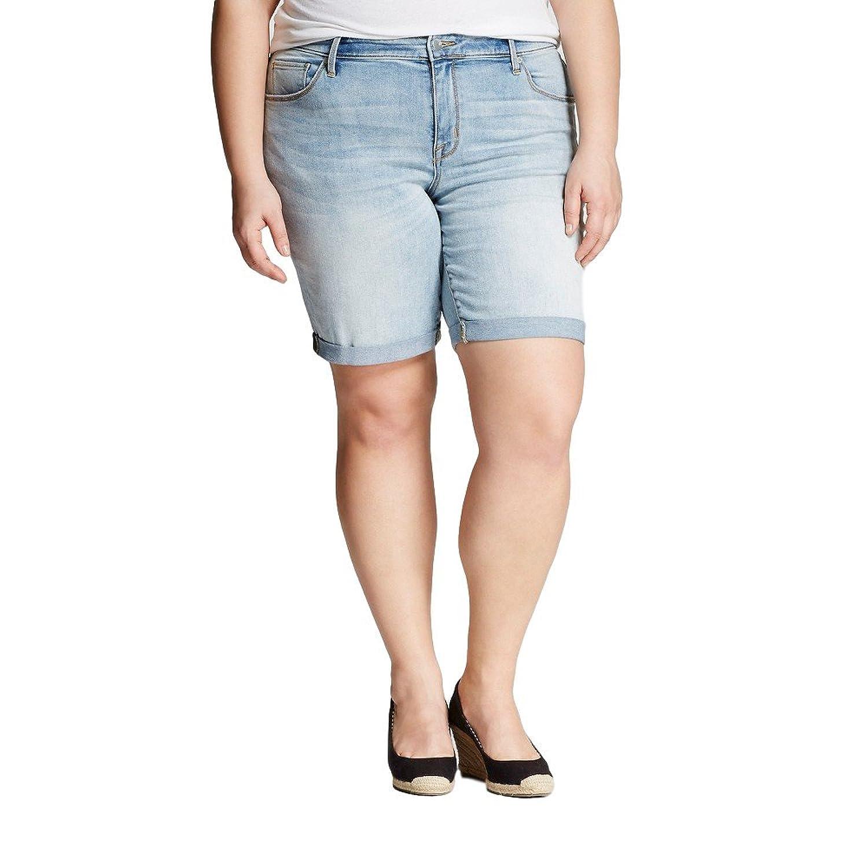 3c881be2 Ava & Viv Women's Plus Size Bermuda Shorts (Light Wash) (22W) at Amazon  Women's Clothing store: