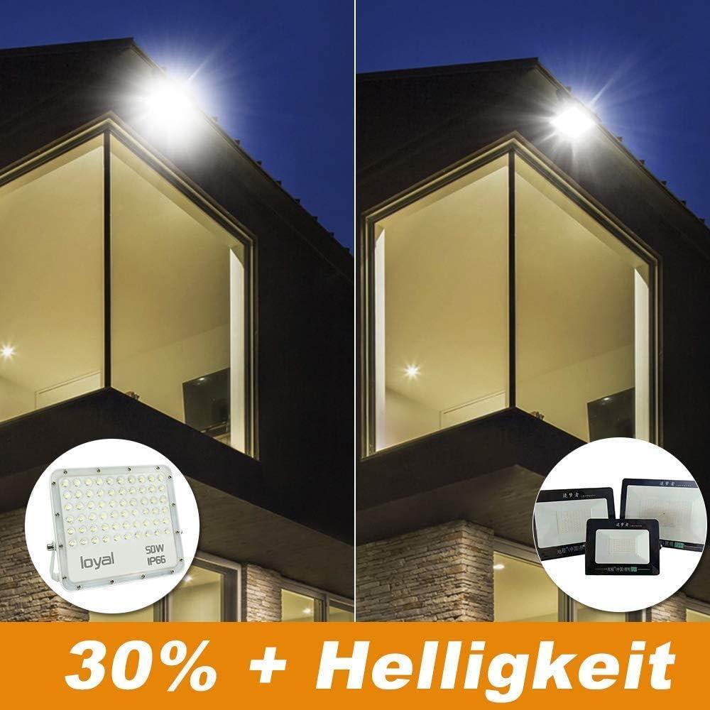 per esterni 9000 lm Faretto LED da 100 W Loyal 6000 K per giardino garage sport IP66 cortile luce bianca fredda
