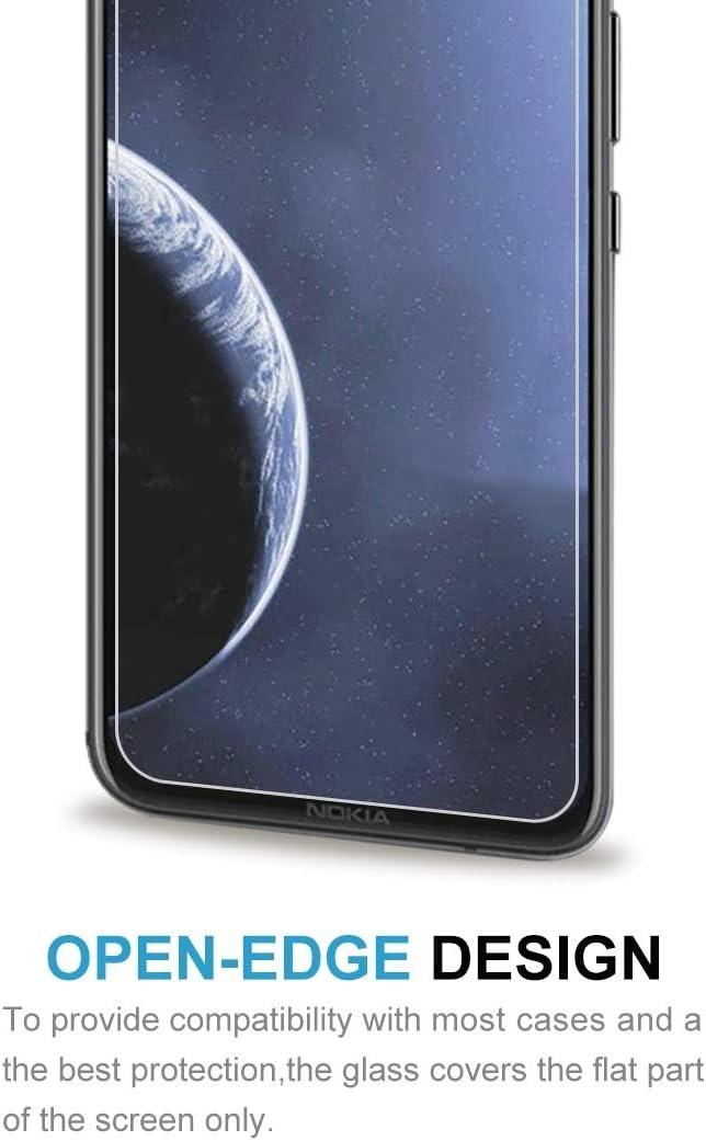 GUOSHU Premium Tempered Glass Screen Film 100 PCS 0.26mm 9H 2.5D Tempered Glass Film for Nokia 8.1 Plus Anti-Scratch Screen Protector