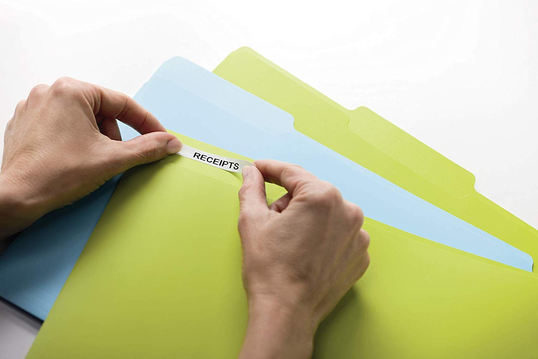 Stampa Nero su trasparente Dymo D1 Etichette Autoadesive per Stampanti LabelManager S0720820 Rotolo da 19 mm x 7 m