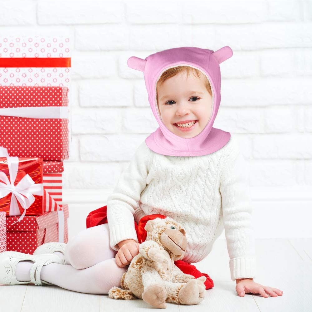 Scaldacollo Termico in Pile Scaldacollo Cappuccio con Sciarpe con Orecchie per Ragazzi 1-4 Anni ANBET Berretto da Bambino Caldo Inverno Cappuccio da Bambino