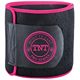 TNT Pro Series Waist Trimmer Weight Loss Ab Belt - Premium Stomach Fat Burner Wrap and Waist Trainer (Small)