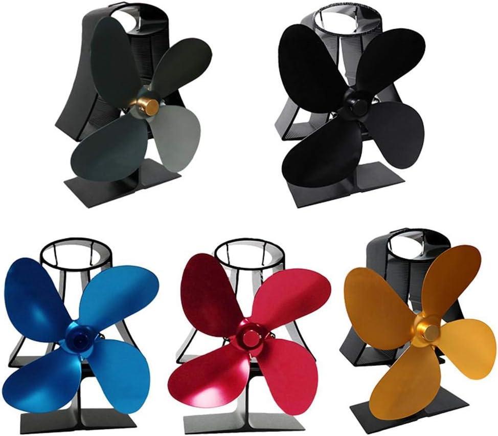 Maliyaw Ventilateur de po/êle aliment/é Multicolore ou en Bois//po/êle /à Bois//chemin/ée Ventilateur de po/êle /à Alimentation /à Chaleur Ultra-silencieuse