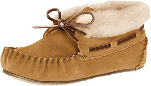 NEW LADIES WOMENS SOFT OUTSOOR FUR LINED WARM MOCCASINS SLIPPERS SHOES SIZE 4-8