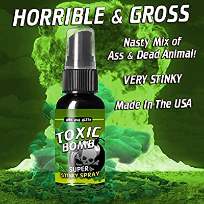 Nasty Smelling 3 Pack - Stinky Ass Fart Spray - Toxic Bomb - Smell from Hell - Plus 2 oz Stinky Ass Hand Cleansing Gel Sanitizer Prank - Stinky Ass Fart Cards: Toys & Games