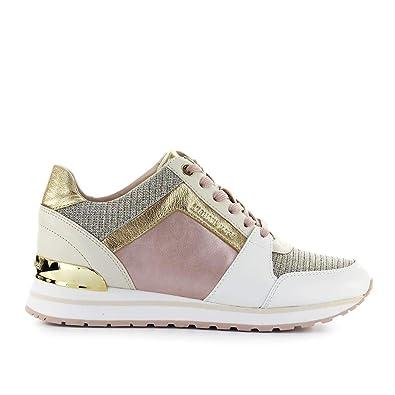ddbdfc03adb Amazon.com | Michael Kors Michael Women's 43S9BIFS2L187 Pink Leather  Sneakers | Fashion Sneakers