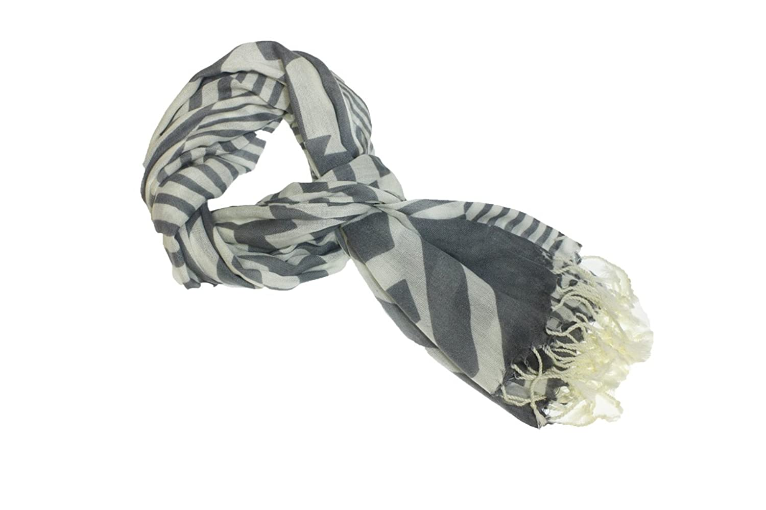 4square One Size Women Gray Hazed Fashion Scarf