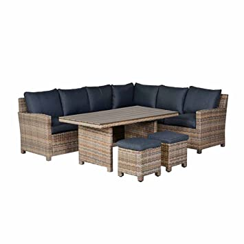 Amazonde Outliv Lounge Essgruppe Seagull Dininglounge 5 Teilig
