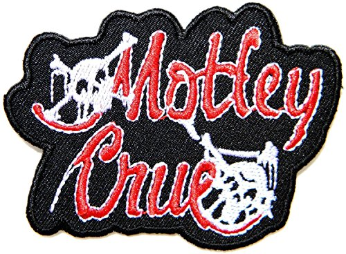 (MOTLEY CRUE Punk Rock Heavy Metal Music Band Logo Jacket T shirt Patch Sew Iron on Embroidered Symbol Badge Cloth Sign Costume By Prinya Shop)