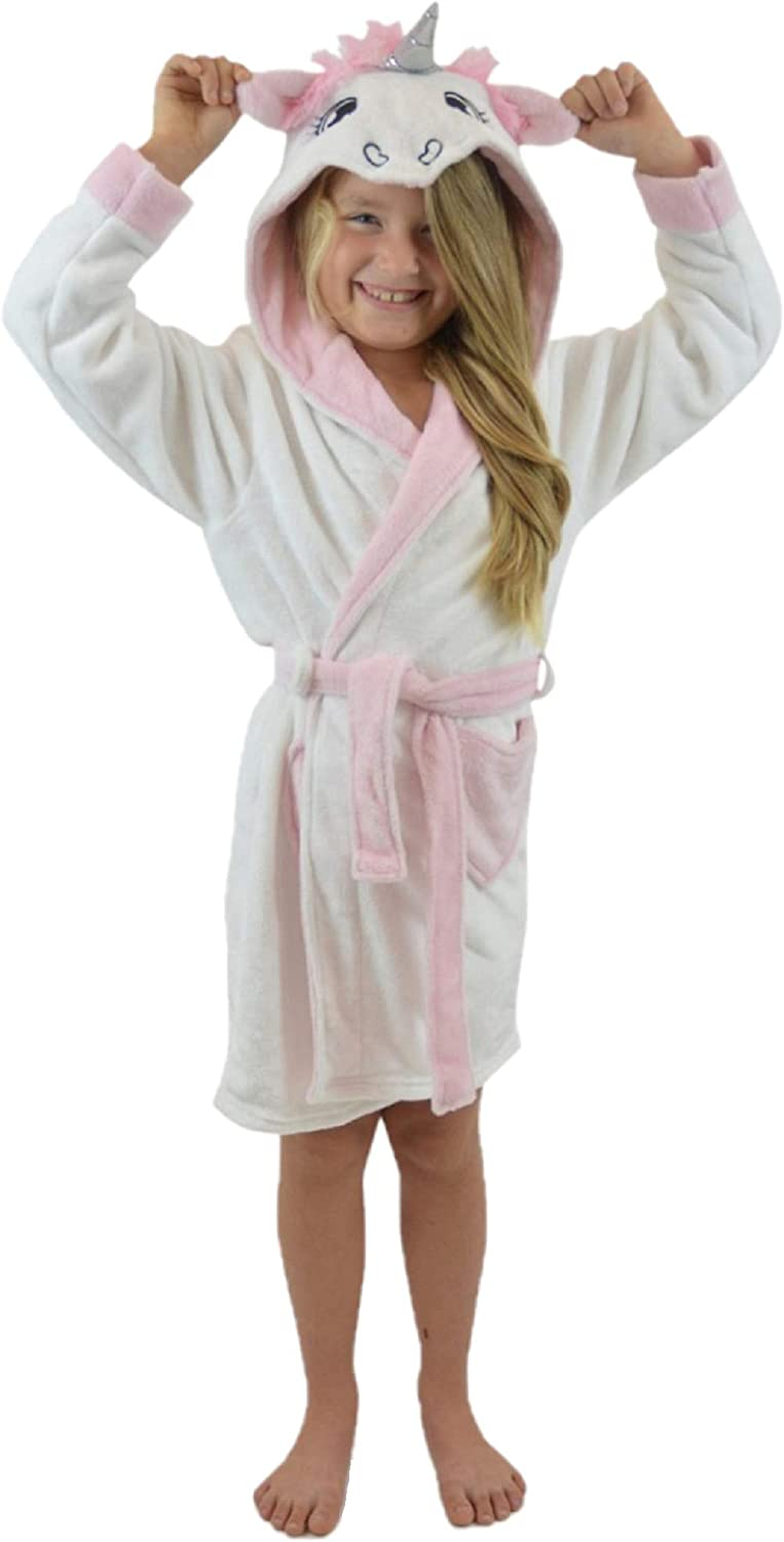 KACEY PARIS Girls Soft & Cosy Hooded Dressing Gown